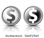 vector icons in the light and... | Shutterstock .eps vector #56691964