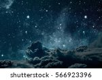 backgrounds night sky with... | Shutterstock . vector #566923396
