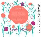creative universal floral... | Shutterstock .eps vector #566927086