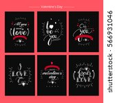a set of greeting cards design... | Shutterstock .eps vector #566931046