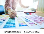 graphic design and color... | Shutterstock . vector #566933452