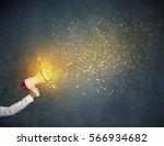 caucasian business hand holding ... | Shutterstock . vector #566934682