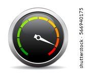 speedometer vector round web... | Shutterstock .eps vector #566940175