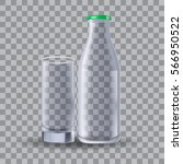 elegant transparent glass and... | Shutterstock .eps vector #566950522