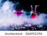 fresh modern coctail on the... | Shutterstock . vector #566952196