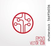 circuit board  technology icon. ... | Shutterstock .eps vector #566956036