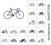 bicycle icon  bike set on white ... | Shutterstock .eps vector #566957338
