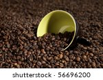 cup in coffee beans | Shutterstock . vector #56696200