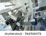 big manufacture machine with... | Shutterstock . vector #566966476