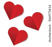Three Red Hearts Sticker....