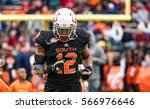 Small photo of Mobile, Alabama, USA. 28th January, 2017: Senior Bowl South Team player (12) Gerald Everett from the University of South Alabama is introduced during pre-game ceremonies.