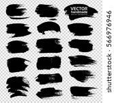 black big textured strokes... | Shutterstock .eps vector #566976946