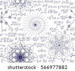 mathematical vector seamless... | Shutterstock .eps vector #566977882