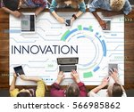 innovation connection invention ... | Shutterstock . vector #566985862