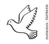 Flying Bird   Dove Or Pigeon...