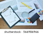 financial printed paper charts  ... | Shutterstock . vector #566986966