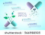 medical info poster with... | Shutterstock .eps vector #566988505