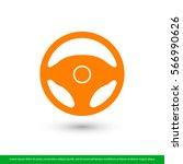 steering wheel icon. one of set ... | Shutterstock .eps vector #566990626