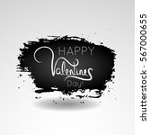 happy valentines day lettering... | Shutterstock .eps vector #567000655