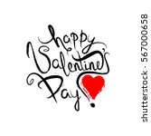happy valentines day lettering... | Shutterstock . vector #567000658