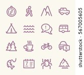 travel web icons.  vacation and ... | Shutterstock .eps vector #567005605