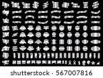 silver banner ribbon label... | Shutterstock .eps vector #567007816