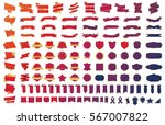 red banner ribbon label vector... | Shutterstock .eps vector #567007822