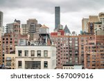 modern and old buildings of new ... | Shutterstock . vector #567009016