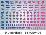 label ribbon banner gold vector ... | Shutterstock .eps vector #567009406
