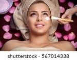 beauty women receiving...   Shutterstock . vector #567014338