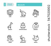 flat symbols about wildlife....