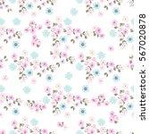 vintage feedsack pattern in... | Shutterstock . vector #567020878