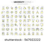 set vector line icons  sign and ... | Shutterstock .eps vector #567022222