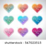 set of hearts vector...   Shutterstock .eps vector #567023515
