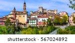 pictorial medieval village... | Shutterstock . vector #567024892