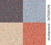 set of 4 color circles mosaic...