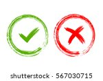 tick and cross signs. green... | Shutterstock .eps vector #567030715