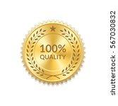 seal award gold icon. blank... | Shutterstock .eps vector #567030832