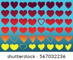 red heart vector icon... | Shutterstock .eps vector #567032236