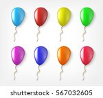 balloons colorful collection of ... | Shutterstock .eps vector #567032605
