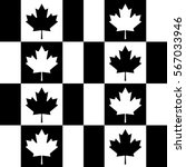 seamless black and white canada ... | Shutterstock .eps vector #567033946