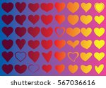 red heart vector icon... | Shutterstock .eps vector #567036616