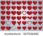 red heart vector icon... | Shutterstock .eps vector #567036682