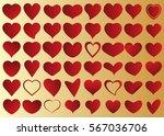 red heart vector icon... | Shutterstock .eps vector #567036706
