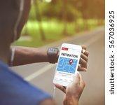 gps map directions navigation... | Shutterstock . vector #567036925
