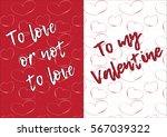 st. valentine's day postcard... | Shutterstock .eps vector #567039322
