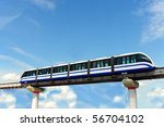 High Speed Monorail Train In...