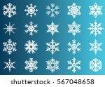 snowflake vector icon... | Shutterstock .eps vector #567048658