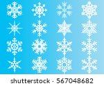 snowflake vector icon... | Shutterstock .eps vector #567048682