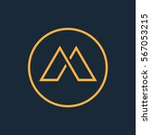 modern thin lines letter m logo. | Shutterstock .eps vector #567053215